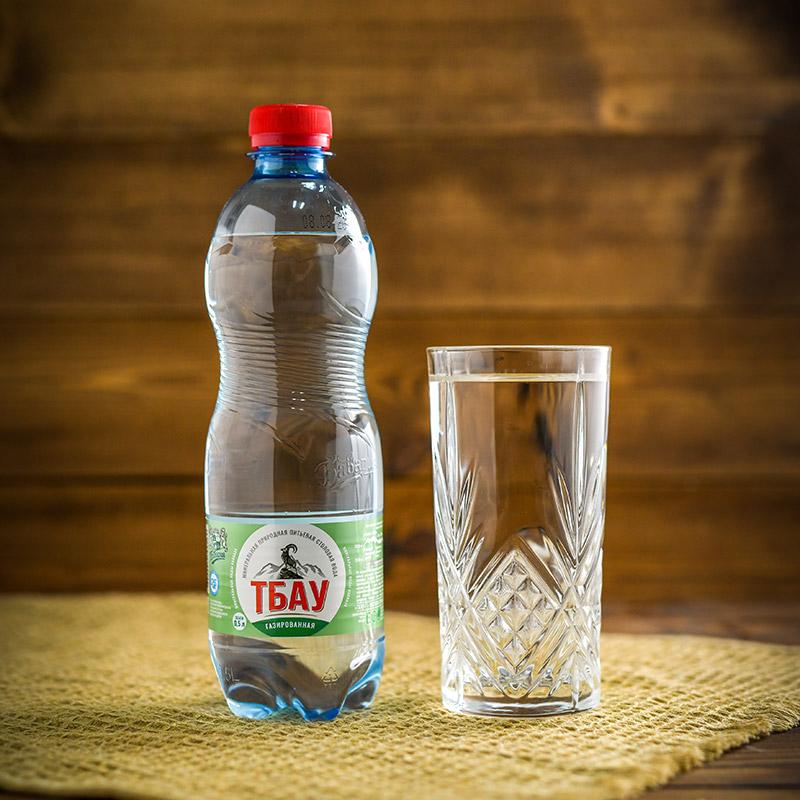 """Минеральная вода """"Тбау"""" газированная  0,5 л. (ПЭТ)"""