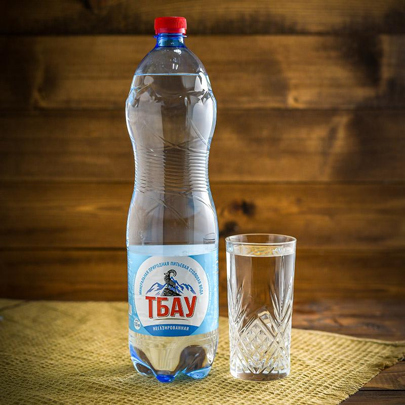 """Минеральная вода """"Тбау"""" негазированная 1,5 л."""