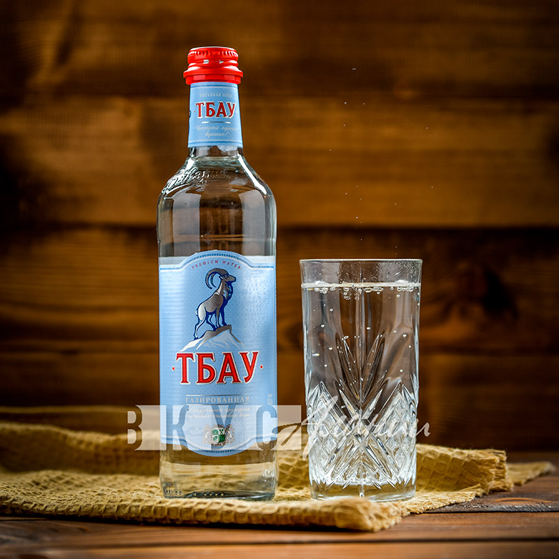"""Минеральная вода """"Тбау Премиум"""" газированная,  0,5 л."""