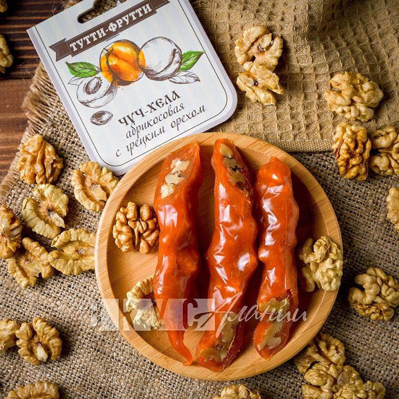 Чуч-хела абрикосовая с  грецким орехом