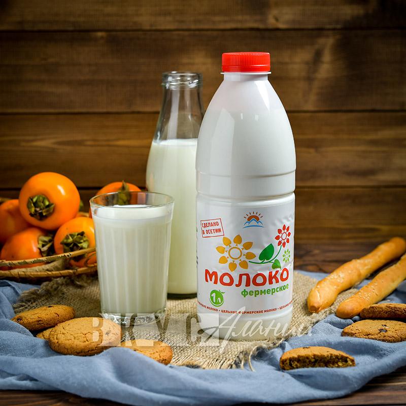 Молоко фермерское 1л
